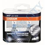 Лампа H7 Osram 55+120% (64210 NBU) Night Breaker Unlimited (2шт) EuroBox