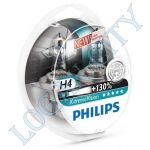 Лампа H4 Philips 60/55+130% X-treme Vision, 12342X+S2 (2 лампы Н4) New Extra Light Brightness
